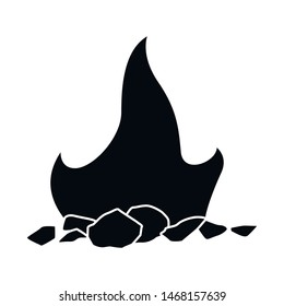 Vector illustration of blaze and fiery sign. Collection of blaze and firewood stock vector illustration.