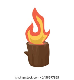 Vector illustration of blaze and fiery symbol. Collection of blaze and blazing stock symbol for web.