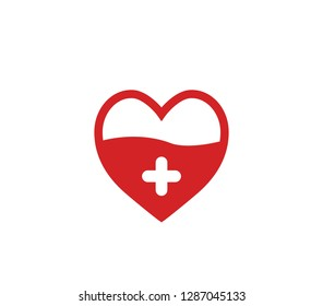 Vector Illustration of Blood Donation. Blood donation icon.