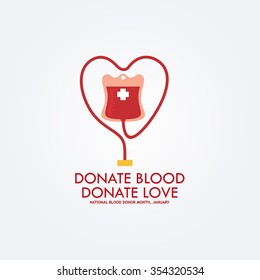 Vector Illustration of Blood Donation. Save Life and Be a Hero