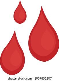 Vector illustration of blood drops emoticon