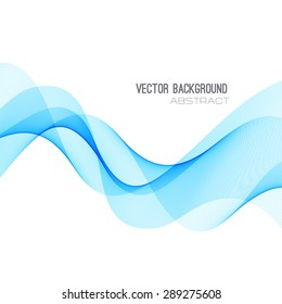 Vector illustration blue Abstract colorful transparent wave.