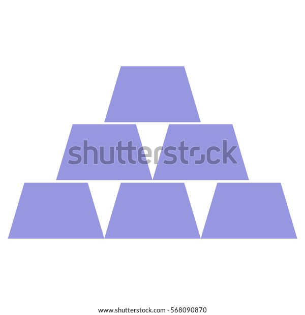 Vector Illustration of Blue Cup Pyramid Icon