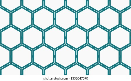Vector illustration blue geometric abstract background
