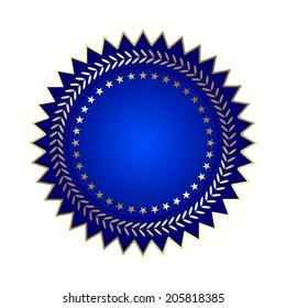 Vector illustration of Blue label