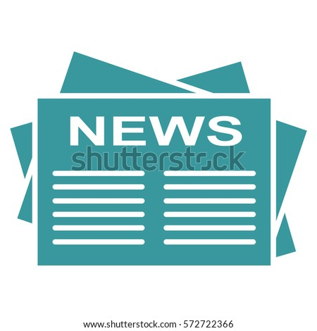 vector illustration blue news paper icon stock vector royalty free