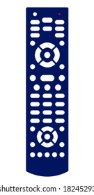 Vector illustration of a blue remote control.