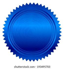 Vector illustration of blue seal