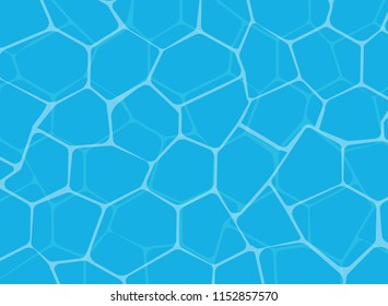 Vector Illustration of blue shining water surface background