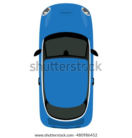 Vector illustration blue small