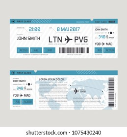 Vector illustration of Boarding pass