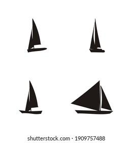 vector illustration of boat logo design,boat silhouette