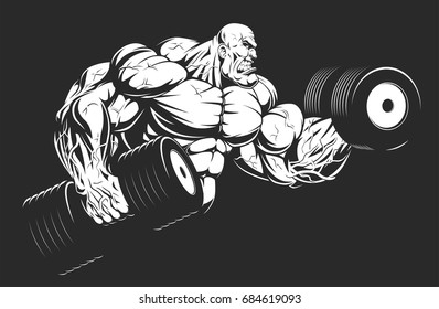 Wondrous Royalty Free Bodybuilder Vector Stock Images Photos Gmtry Best Dining Table And Chair Ideas Images Gmtryco