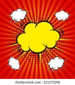 vector illustration of boom comic book explosion