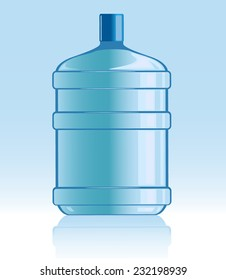vector illustration of bottle with water