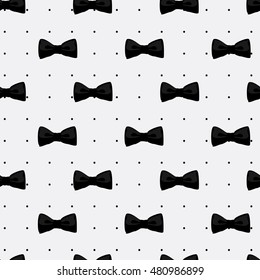 Vector Illustration Bow Tie Seamless Pattern Fashion Graphic Background Design Modern Stylish Texture With