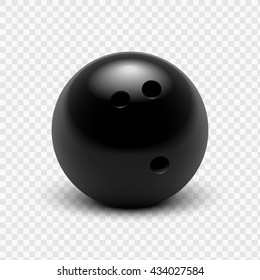 Vector illustration bowling ball. Isolated on a transparent background. EPS 10