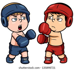boxing cartoon images stock photos vectors shutterstock rh shutterstock com Boxing Gloves Silhouette Boxing Glove Outline