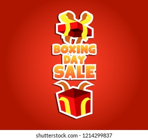 Vector illustration for boxing day promotion