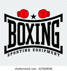 Vector illustration of Boxing with  gloves icon