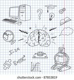 Vector illustration of the brain
