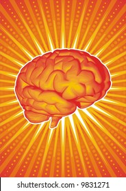 Vector illustration of a brain.