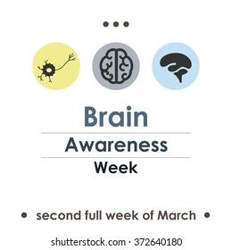 vector illustration / brain awareness week