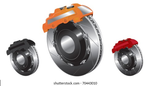 vector Illustration of brake block on white background