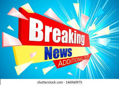 vector illustration of Breaking News background