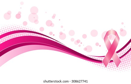 Vector illustration of breast cancer awareness horizontal banner
