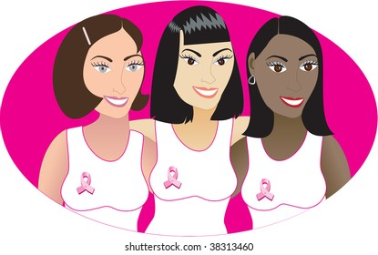 Vector Illustration for Breast Cancer awareness month.