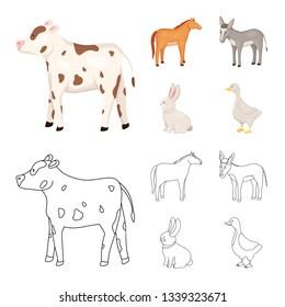 Vector illustration of breeding and kitchen  logo. Set of breeding and organic  vector icon for stock.