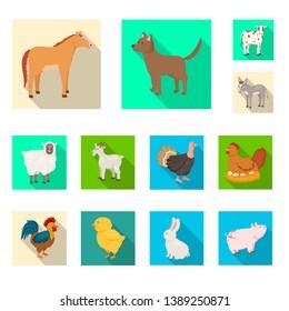 Vector illustration of breeding and kitchen  logo. Set of breeding and organic  stock vector illustration.