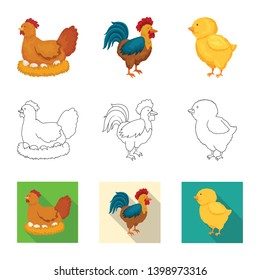 Vector illustration of breeding and kitchen  symbol. Set of breeding and organic  stock symbol for web.