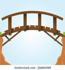 Vector illustration. Bridge.
