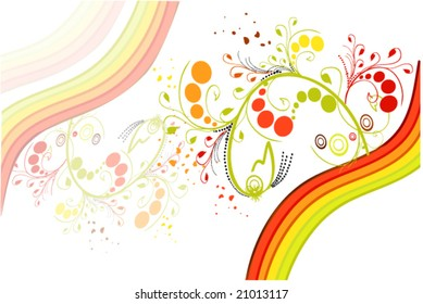 vector illustration of bright abstraction