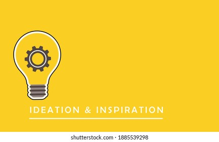 Vector illustration of bright bulb for a great ideation concept, inspiration and creative thinking ..