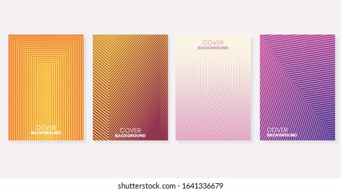 Vector illustration of bright color abstract pattern background with line gradient texture for minimal dynamic cover design. Blue, pink, yellow, white placard poster