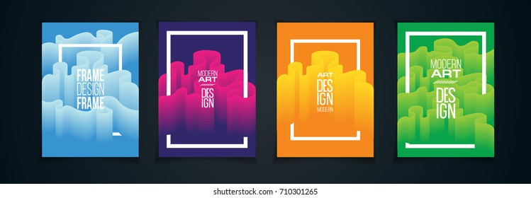 vector illustration. bright colorful design of the pattern from the wavy line. hipster design element ultramodern background for posters, cards, covers, flyers. new trend in advertising design