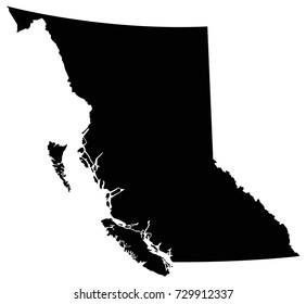 vector illustration of British Columbia map