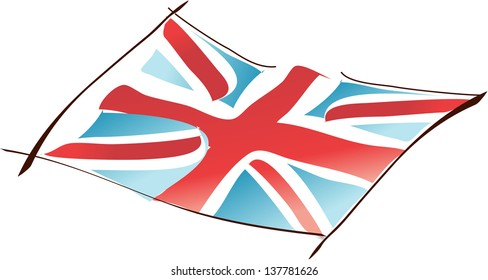Vector illustration of British flag
