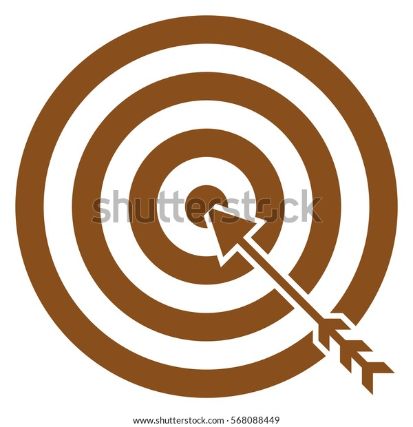 Vector Illustration of Brown Archery Target Icon