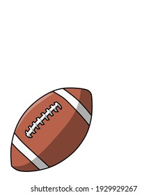 a vector illustration of a brown rugby ball.