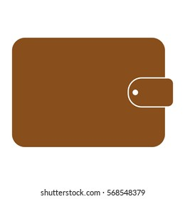 Vector Illustration of Brown Wallet Icon