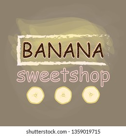 Vector- illustration of buisness logo for a sweetshop, candybar, banner,flyer, visit card.