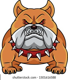 vector illustration of Bulldog Cartoon
