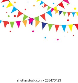 vector illustration of bunting background