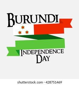 Vector illustration of Burundi independence day.