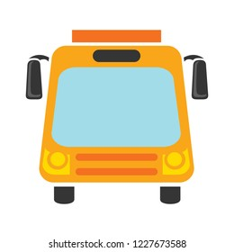Vector illustration bus to transport people. easy editing bus illustration. school bus For your design