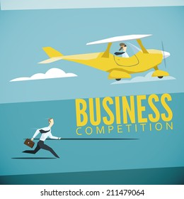 Vector illustration of business competition